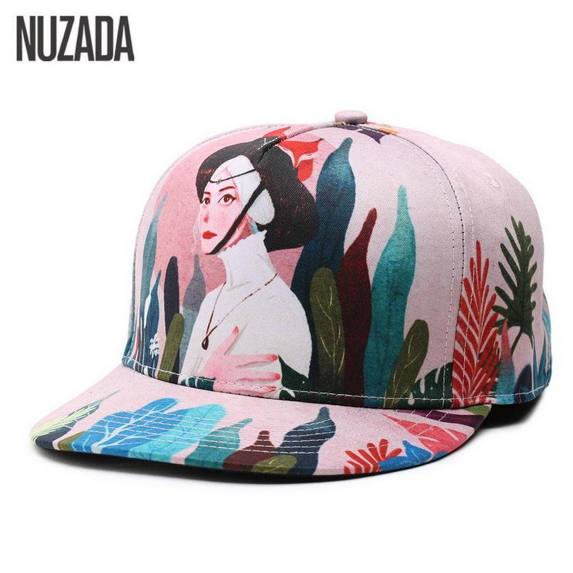 a414ce90f348d Brand NUZADA Caps French Girl Women Cotton Baseball Cap Fashion ...