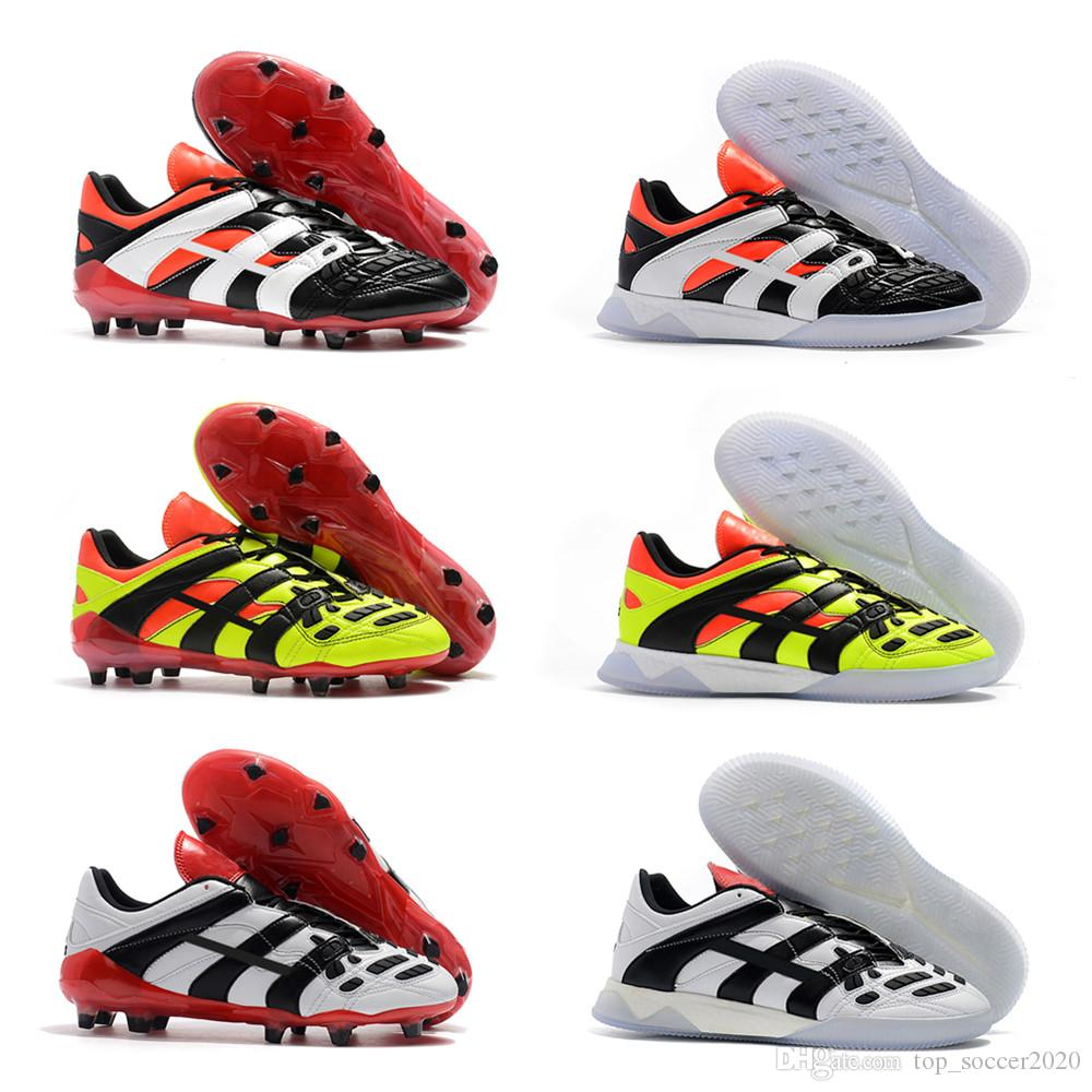 a513b71539f 2019 New 2018 Top Quality Dream Back 98 Predator Accelerator Electricity FG IC  Soccer Shoes FG Football Boots Soccer Cleats Sneakers From Top soccer2020