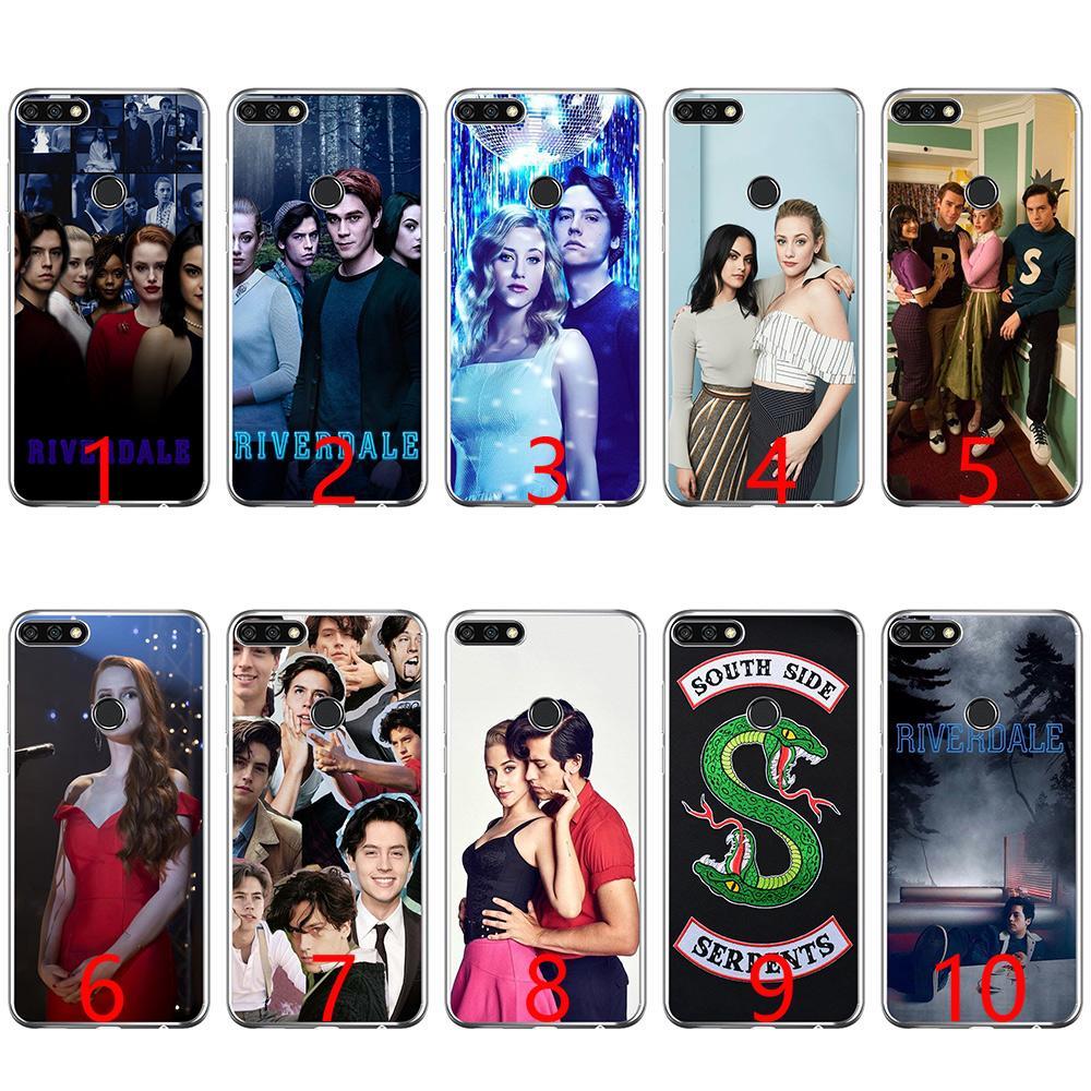 the latest d8889 4ebc2 Hot TV show Riverdale lovely Soft Silicone Phone Case for Huawei P8 P9 Lite  2015 2016 2017 P10 20 Lite P Smart