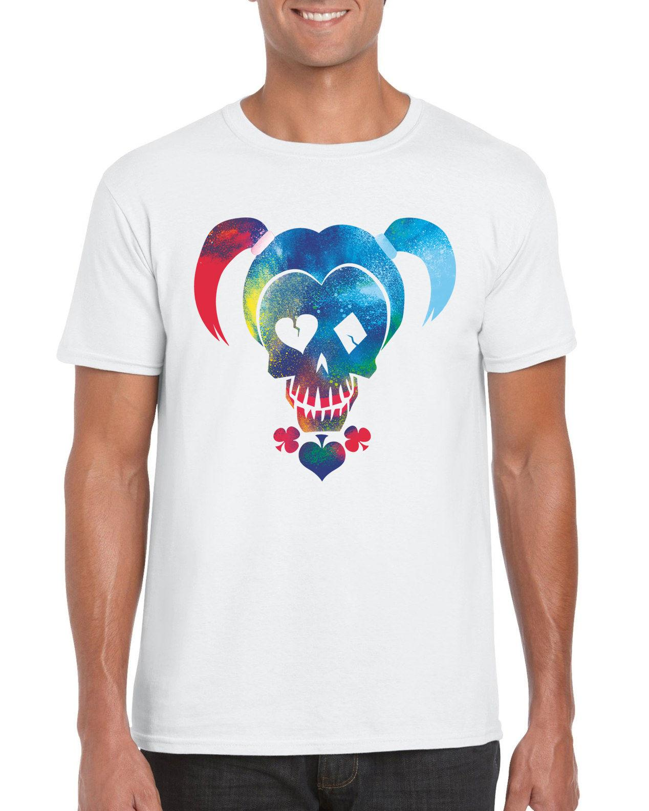 Harley Quinn Spray Paint Logo Suicide Squad Inspired T Shirt All
