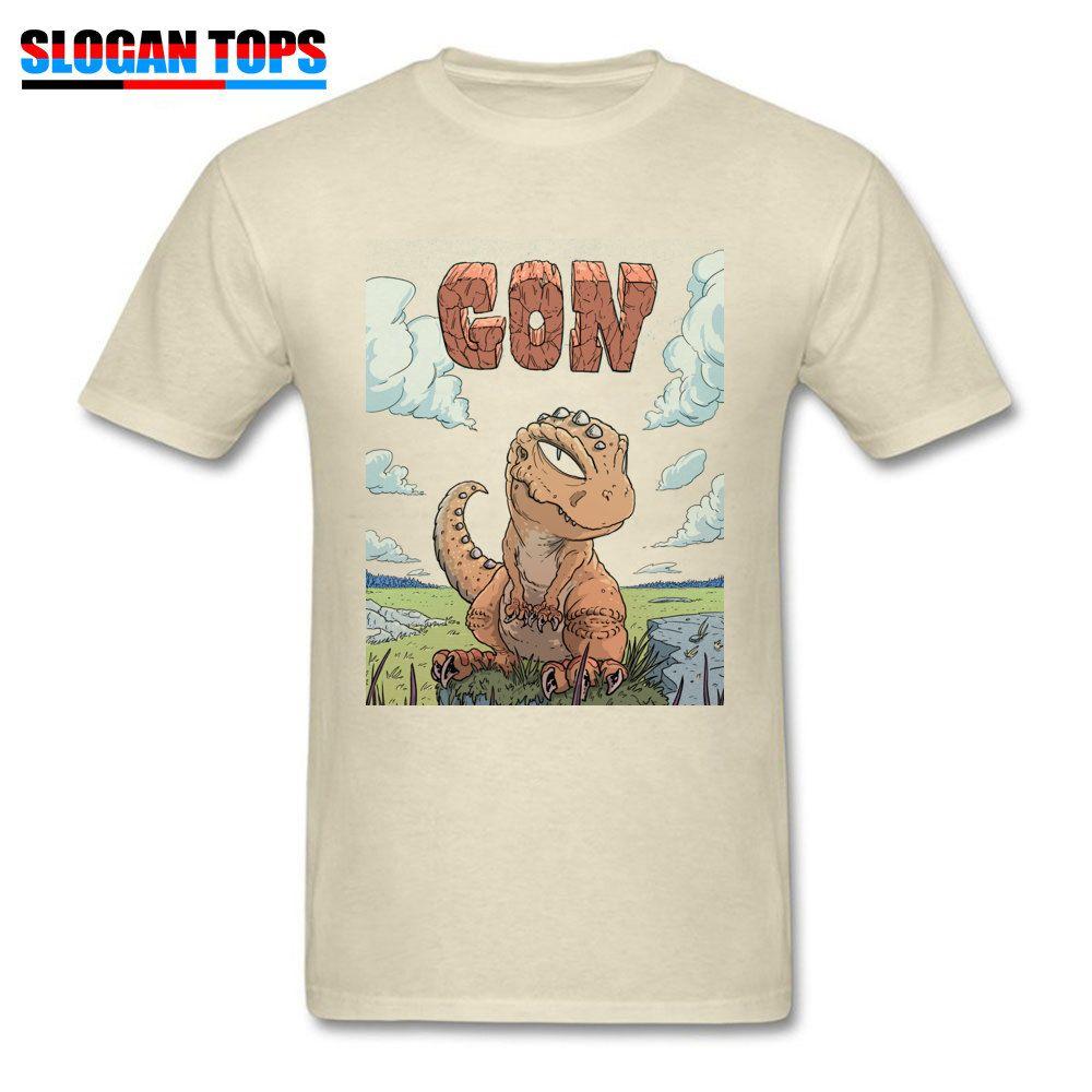 T Beige Dinosaurio Hombres Shirt Impresión Cjql435ar De Compre Faddish PwiTZOkXu