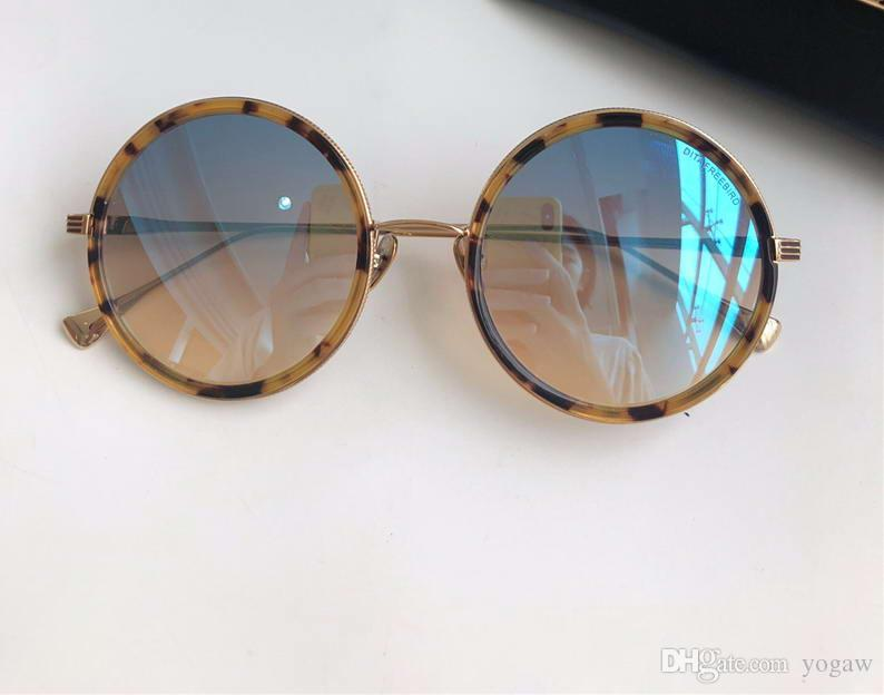 Compre Mulheres Freebird Rodada Óculos De Sol De Ouro Azul Flash Gafas De  Sol Designer De Luxo Óculos De Sol Óculos De Alta Qualidade Novo Com Caixa  De ... ab0808d46a