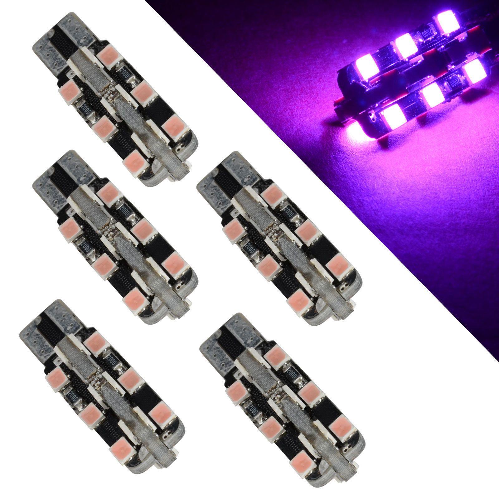 White Ba9s T10 920 168 24 2835 SMD LED Bulbs For Car indicator instrument clearance marker side signla Parking Lights