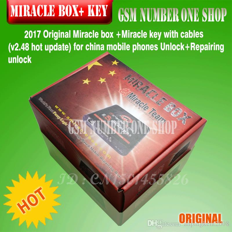 DHL OR EMS Original new Miracle box +Miracle key with cables V2.48 hot updatefor china mobile phones Unlock+Repairing unlock