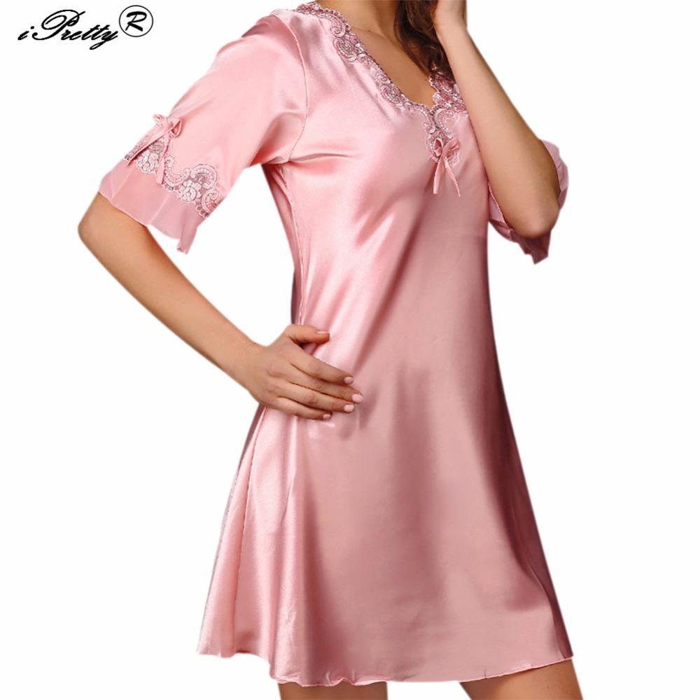 Compre Ipretty Lencería Sexy Para Mujer Faldas De Satén De Seda ...