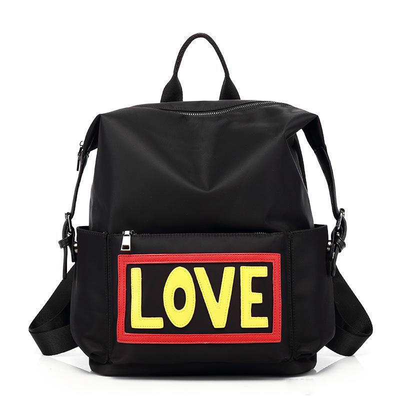 2colors choose devil's name waterproof Oxford fabric love fashion backpacks school bags designer backpack shouler bag for travel and school