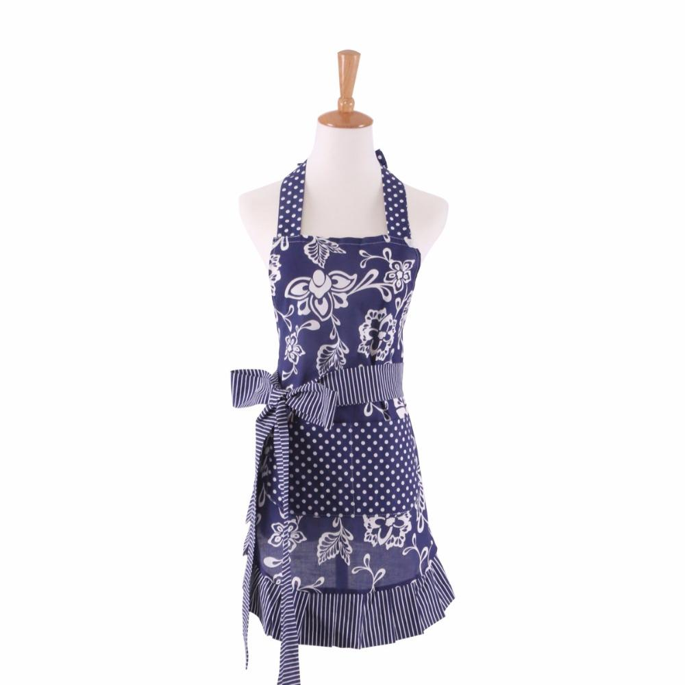 Hot Retro Cute Cotton Blue Apron For Woman Kitchen Organizer Restaurant  Cooking Work Apron Girl Dress Delantal Avental Tablier Sexy Aprons Sexy  Apron From ...
