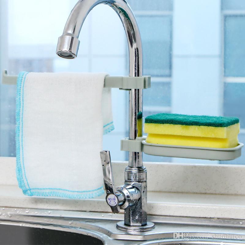 2018 Sink Hanging Rack Towel Fresh Pp Bathroom Shelves Soap Holder Kitchen Dish Cloth Sponge Storage Organization From Shunhuico