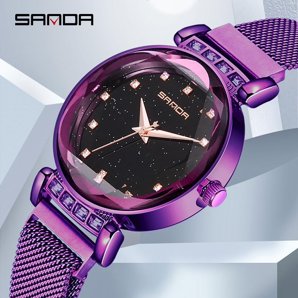 a4f235aba8b Compre 2018 Rose Gold Céu Estrelado Relógios Das Mulheres Criativas Roman  Moda Quartz Ladies Watch Relógio De Aço Inoxidável Relogio Feminino De ...