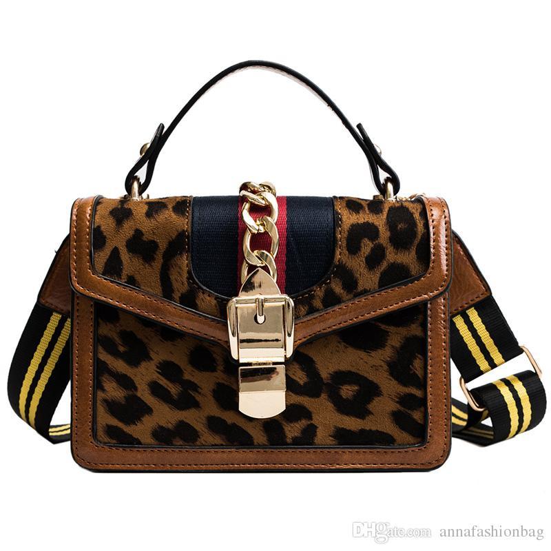 04728cfb5f7c 2018 Leopard Vintage Messenger Bags Women Flap Bag Ladies Fashion ...