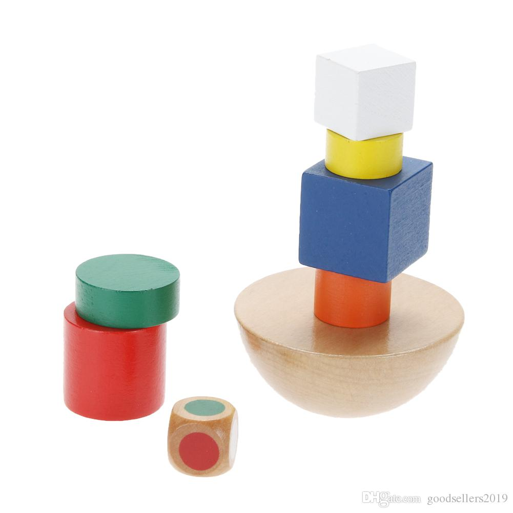 Learning Education Wooden Toys Hemisphere Balance Stacking Game Toys for Children Educational Wood Toy Building Blocks Kids Baby Toys