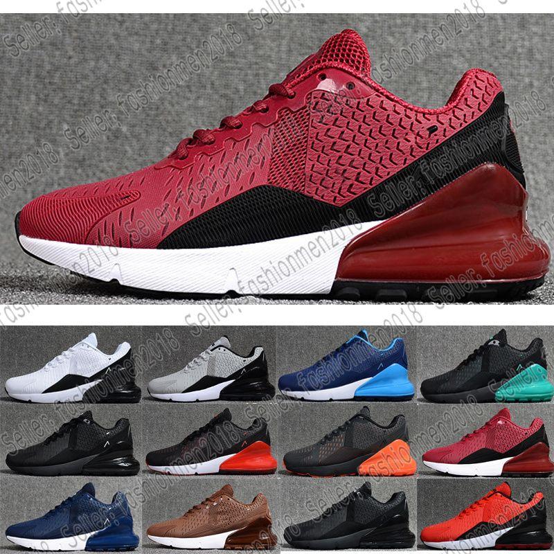 hot sale online 85650 994d3 Compre Nike Air Max AirMax 27C 2018 Al Por Mayor Flair 270C Triple Blanco  Negro Gris Mens Nano Kpu Zapatillas De Running Zapatos Para Mujer Training  27 C ...
