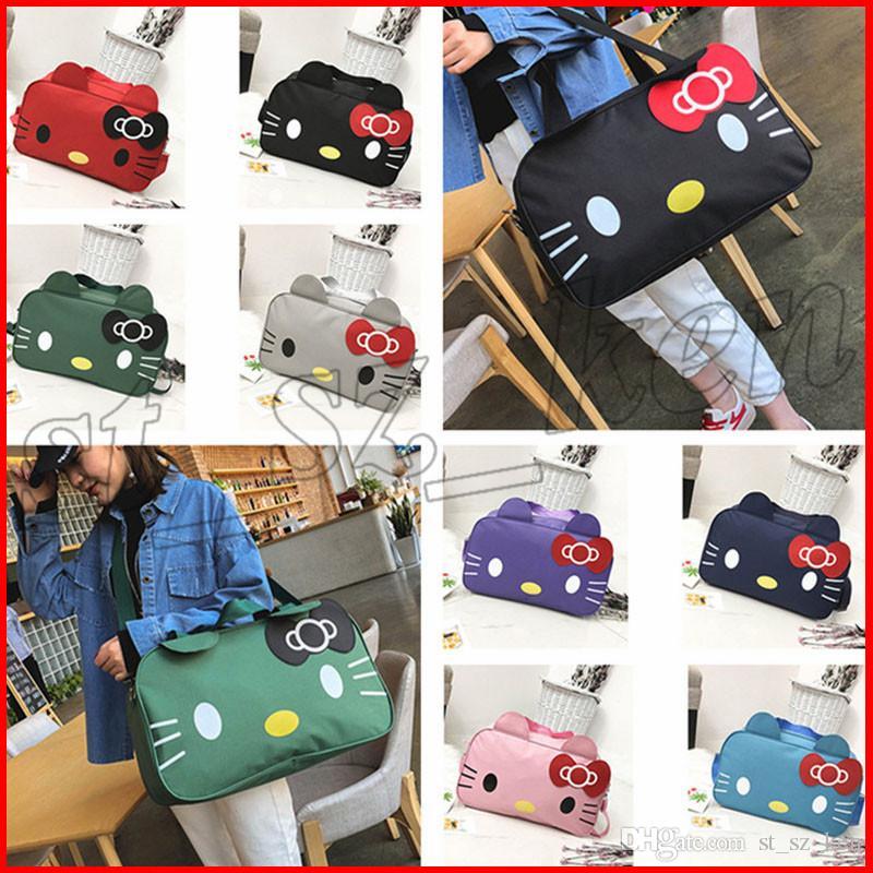 e4370700f Cute Cartoon Hello Kitty Women Large Folding Foldable Travel Bag ...
