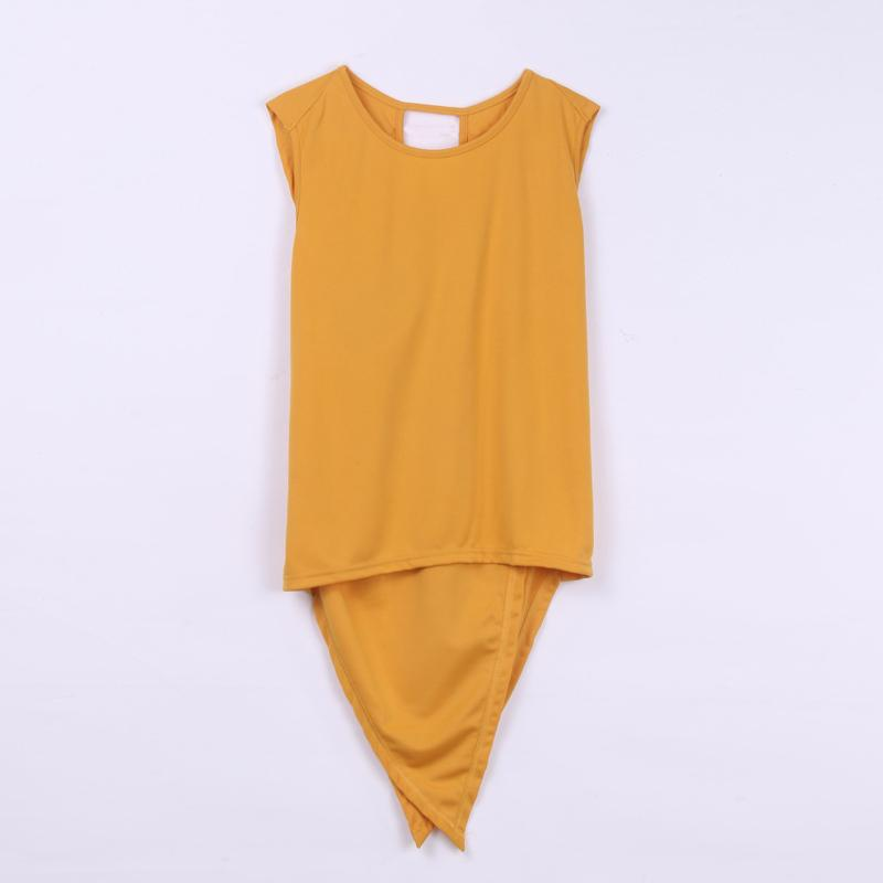d84cb9013234 Fashion Women Summer Loose Top Sleeveless O Neck Yellow Shirt Ladies Casual  Vest Tops T Shirt Outfit Evening Party S M L XL Quality T Shirts T Shirt  Slogans ...