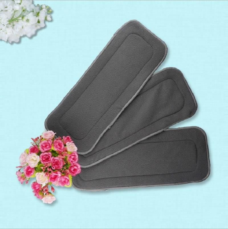 4 Layers Bamboo Charcoal Baby Cloth Nappy Inserts Reusable Washable Diapers Nappy Changing KF005-1