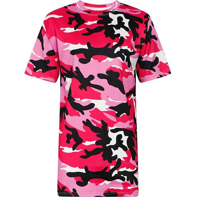 e94110c35965ad Women T Shirt 2018 Summer Short Sleeve Camo Print Loose Design Tee Top For  Girls Casual T Shirt Oversized Tshirt Pink Camouflage Best T Shirts Shirts  Online ...