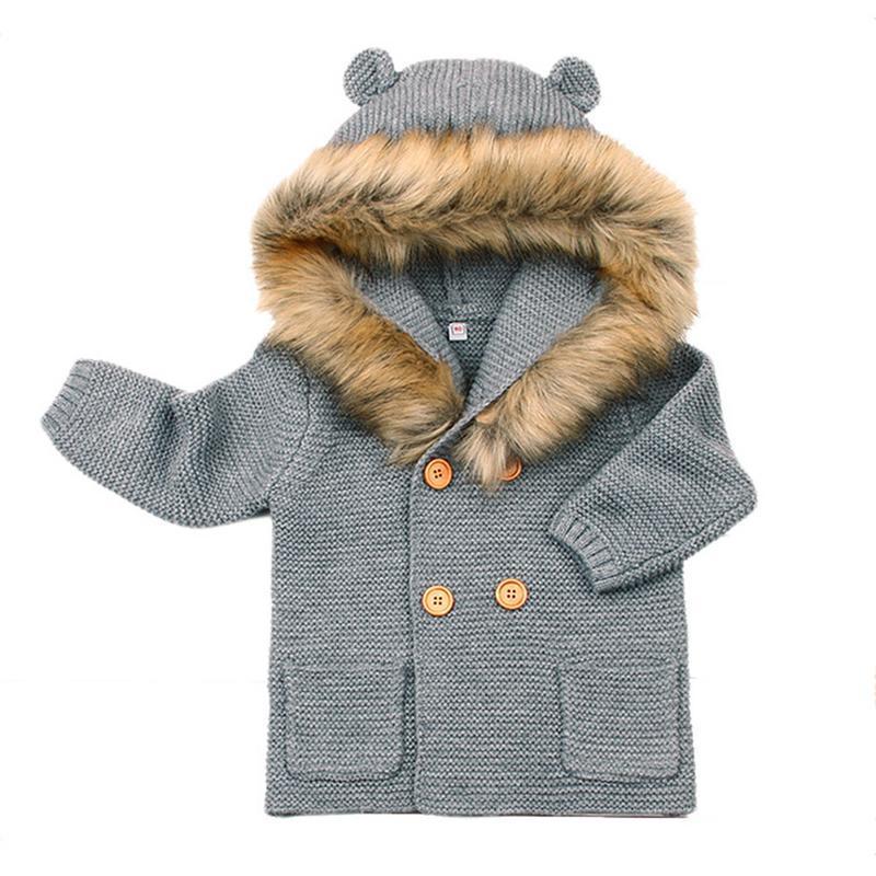 277d8e70f783 Winter Sweater Cartoon For Baby Girls Cardigan With Ears Newborn ...