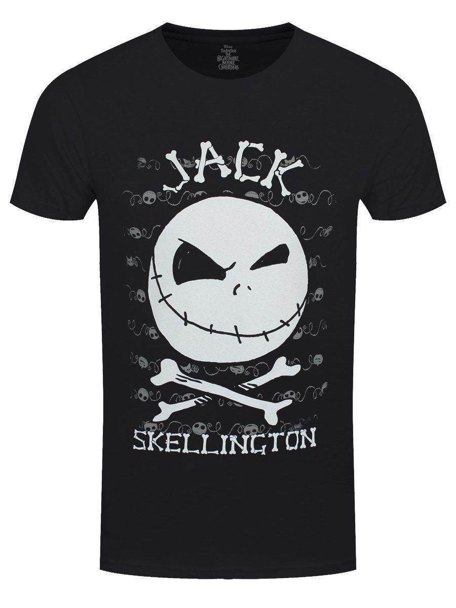 The Nightmare Before Christmas T Shirt Jack Face Homme Noir Cool ...