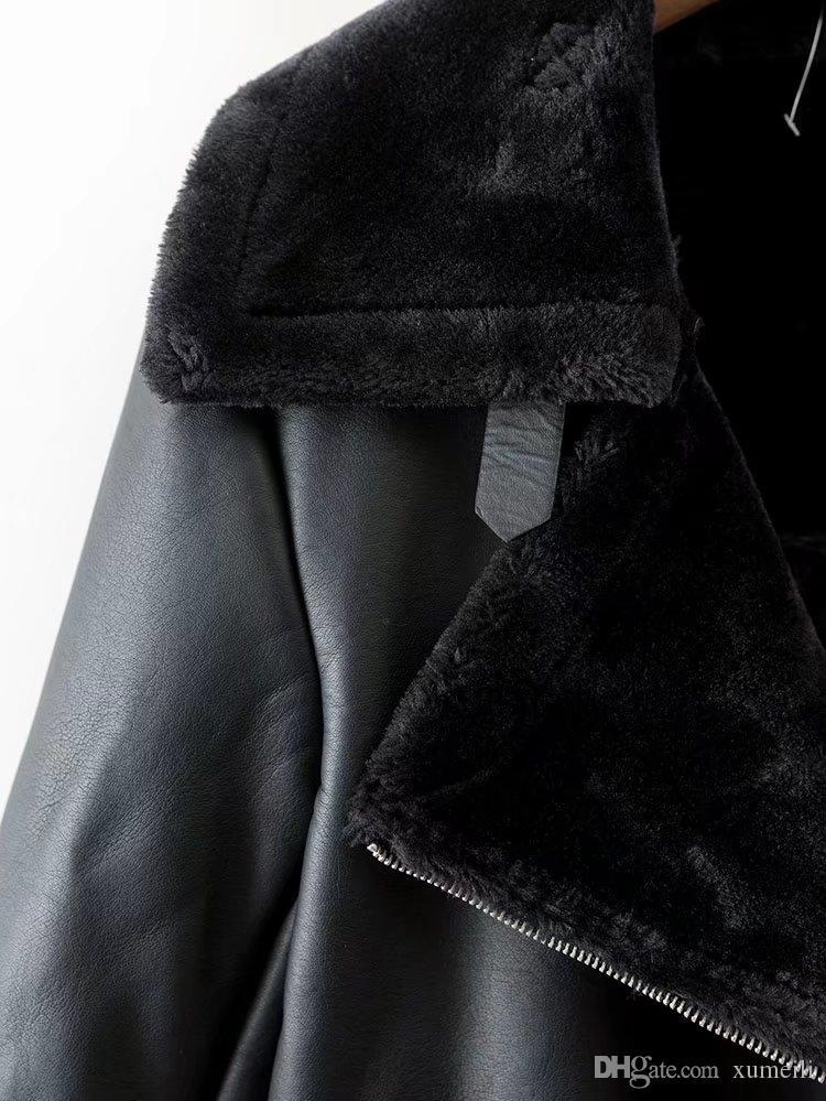 Inverno nuove donne vestiti e cappotti di pelliccia za17ra Europa e Stati Uniti e lo stesso tipo di cappotto medio lungo sciolto locomotiva