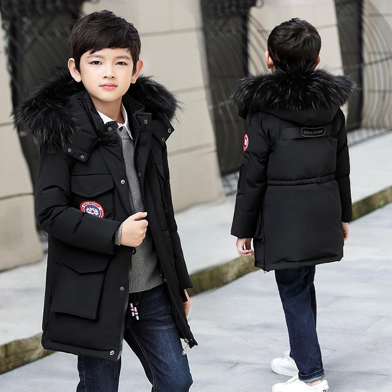 dffd381c8532b Children Winter Jackets For Boys Teenagers 5 6 7 8 9 10 11 12 13 Years Kids  Clothes Winter Coat Big Boys White Duck Down Parkas Boys Coats Clearance  Boys ...