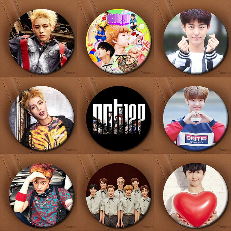 Youpop KPOP Korean NCT U NCT 127 Dream NCTU NCT127 Metal 58mm Round Badge  Pins And Brooches For Clothes Hat Backpack