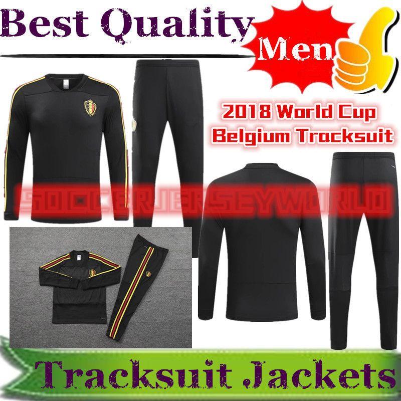 2018 World Cup Belgium Jacket Tracksuit Kits Hazard Kompany Lukaku ... 69348101b