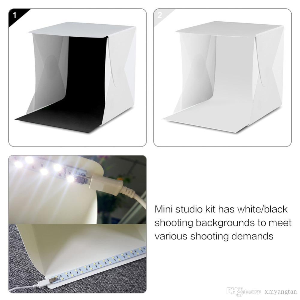 محمولة قابلة للطي صندوق الصور التصوير الفوتوغرافي Softbox ستوديو LED ضوء مربع لينة لDSLR كاميرا خلفية الصور دروبشيبينغ