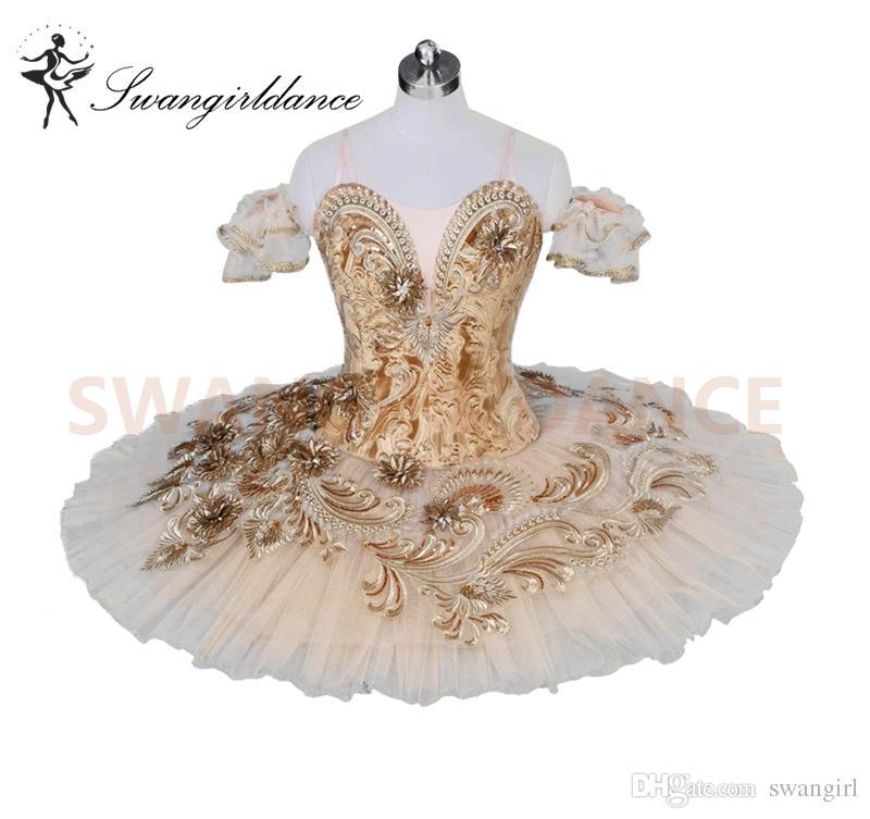beb2674391df 2019 Adult Professional Ballet Tutu Costume Beige Ballerina Pancake Tutu  Skirt Women Performance Classical Ballet Costume DressbBT9030 From Swangirl,  ...