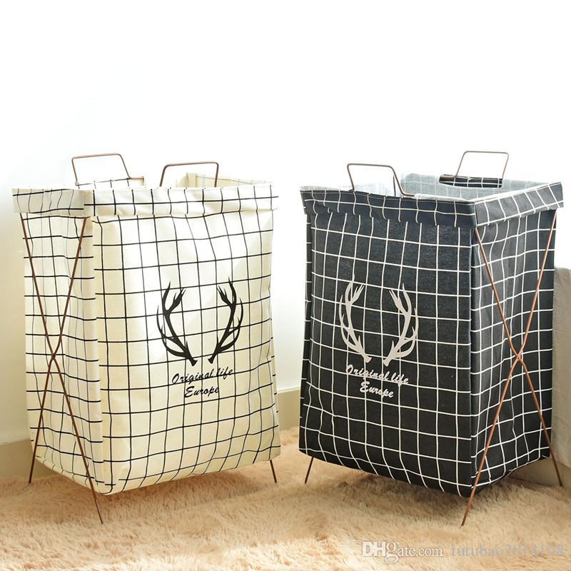 . Extra Large High Quality Laundry Basket Bathroom Storage Box Dirty Clothes  Foldable Basket Necktie Socks Bag Waterproof