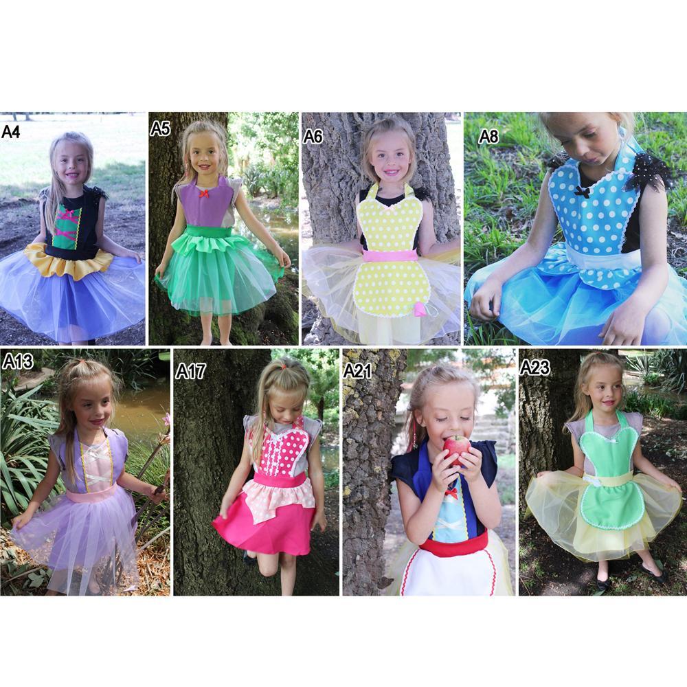 e21f4978fe138 Alice In Wonderland Anna Princess Costume Tutu Apron For Girls Fun ...