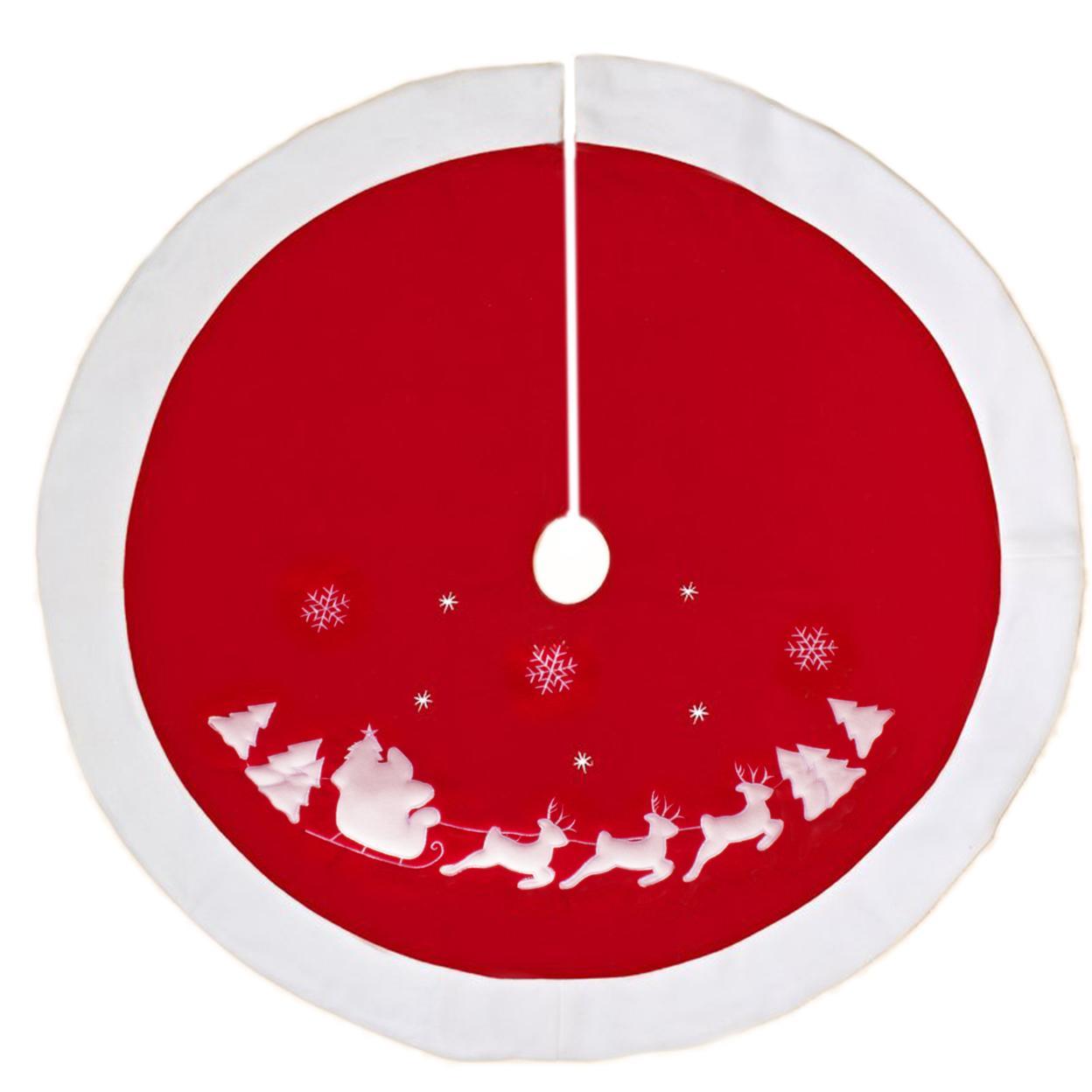 Großhandel Traditioneller Roter Ren Schneeflocke Weihnachtsbaum Rock ...
