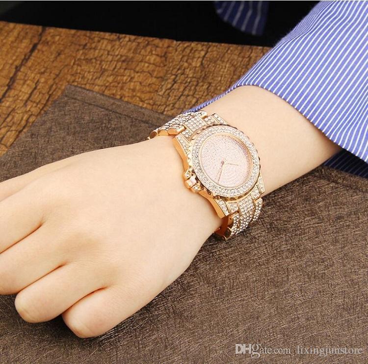 Luxury brand Designer women watches sapphire Ladies gold watch Diamond dial calendar Roman numerals stainless steel clock gifts for womens