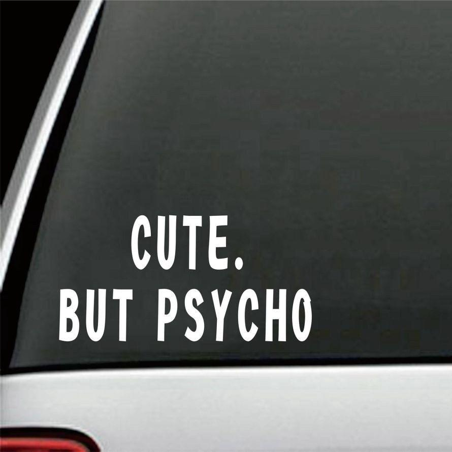 2019 2010cm cute but psycho car bumper sticker girly funny drift jdm wall art decal fashion sticker decals from xymy767 3 92 dhgate com