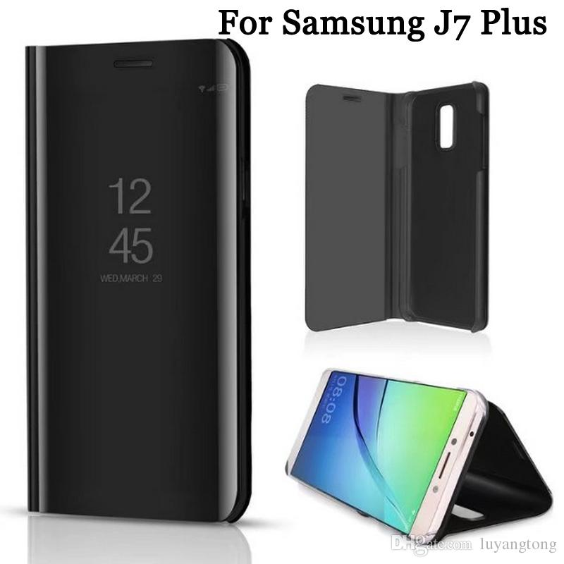 22d0d51077 Smart Mirror View Case For Samsung Galaxy J7 Plus Stand Leather Flip Cover  For Samsung J7Plus Fundas Waterproof Cell Phone Cases Wallet Cell Phone Case  From ...