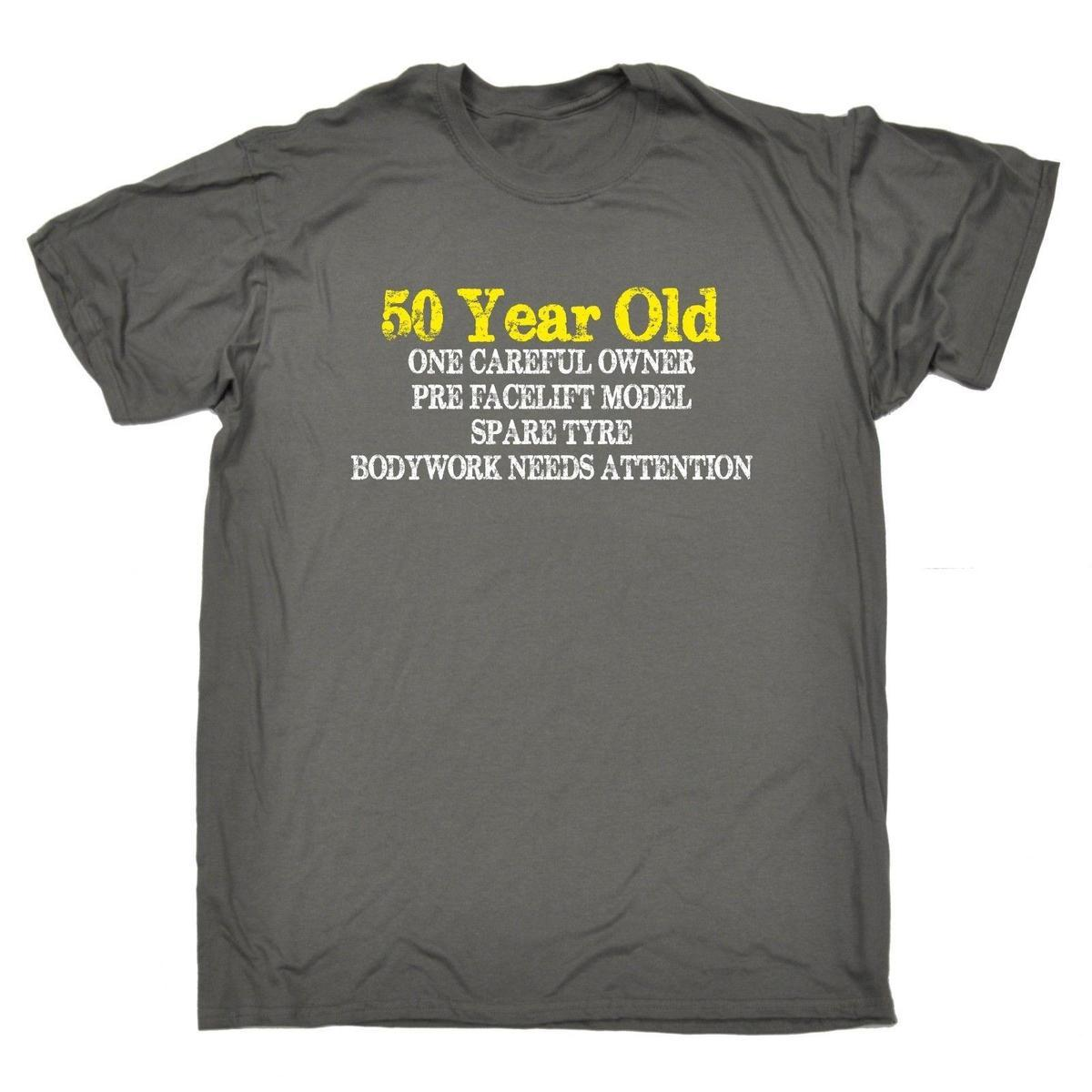 50 Year Old One Careful Owner T SHIRT Tee Birthday Gift Joke Funky Shirts For Women Shirt Purchase From Yuxin09 138