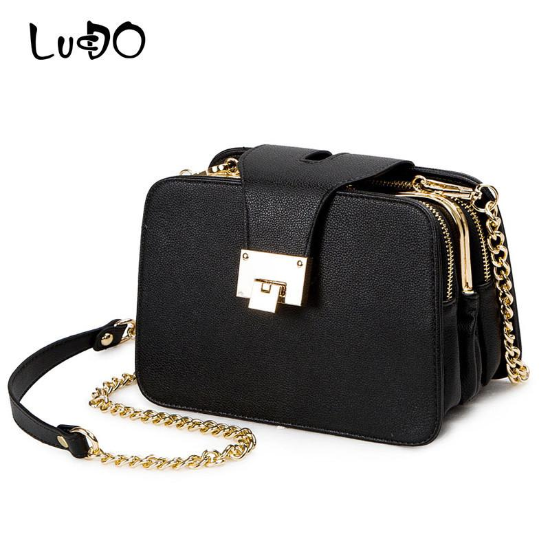28ed01b3cf LUCDO New Fashion Women Shoulder Bag Chain Strap Flap Designer Handbags  Clutch Bag Ladies Messenger Bags With Metal Buckle Sac Handbag Sale Side  Bags From ...