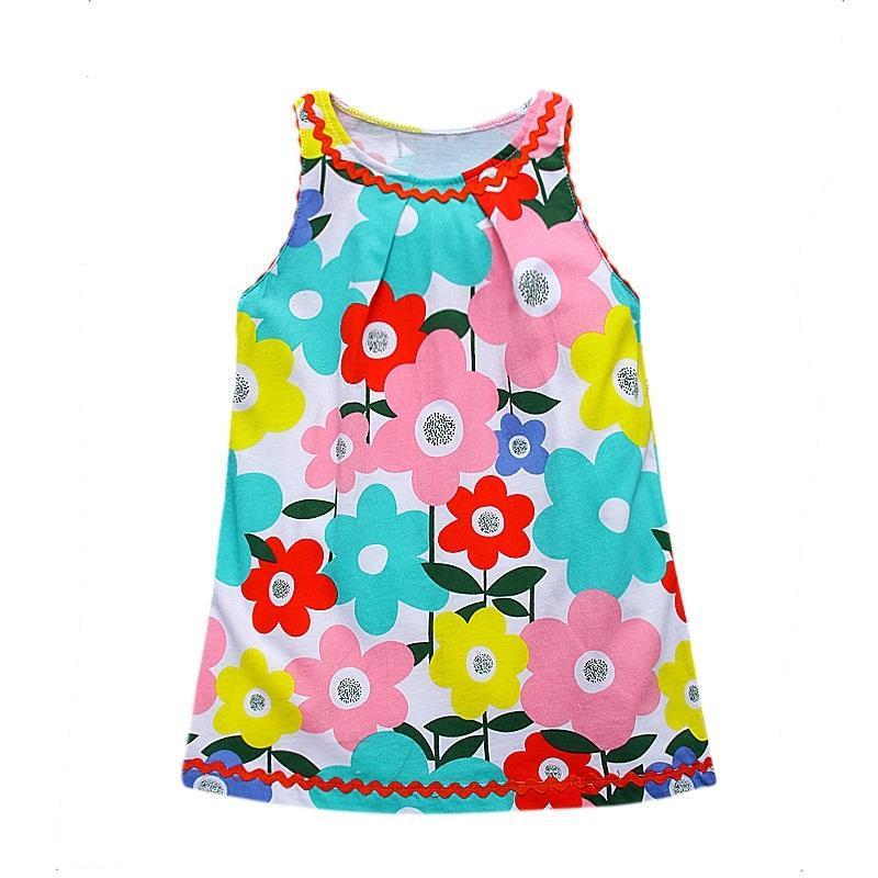 Einzelhandel Mädchen Kleider Baby Kleinkind Kinder Kleider Kind Mädchen Kleid Kinder Kleidung Sommer Kinder Kleider MS0132 Mix