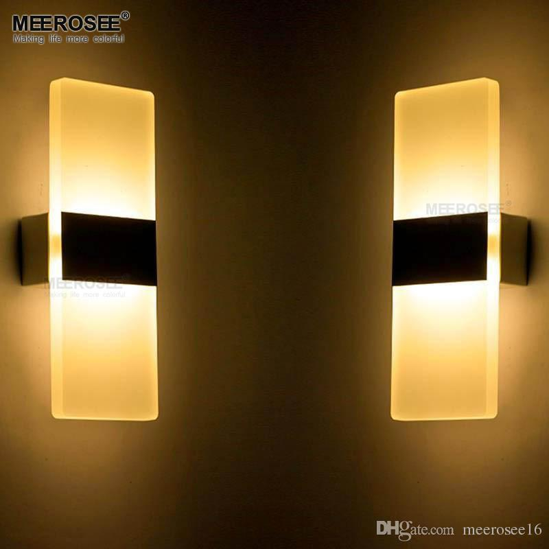Modern Led Wall Lamp Bathroom Led Wall Sconce Aluminum Wall Lighting ...