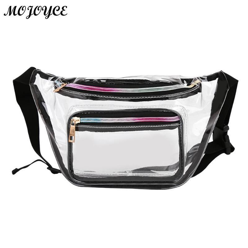 55b4e75b8e8 Brand Design Transparent PVC Waist Packs Women Girls Casual Pouch Fanny  Chest Clear Shoulder Bags Trendy Ladies Waist Bag Bolso Shoe Bags Cute  Fanny Packs ...