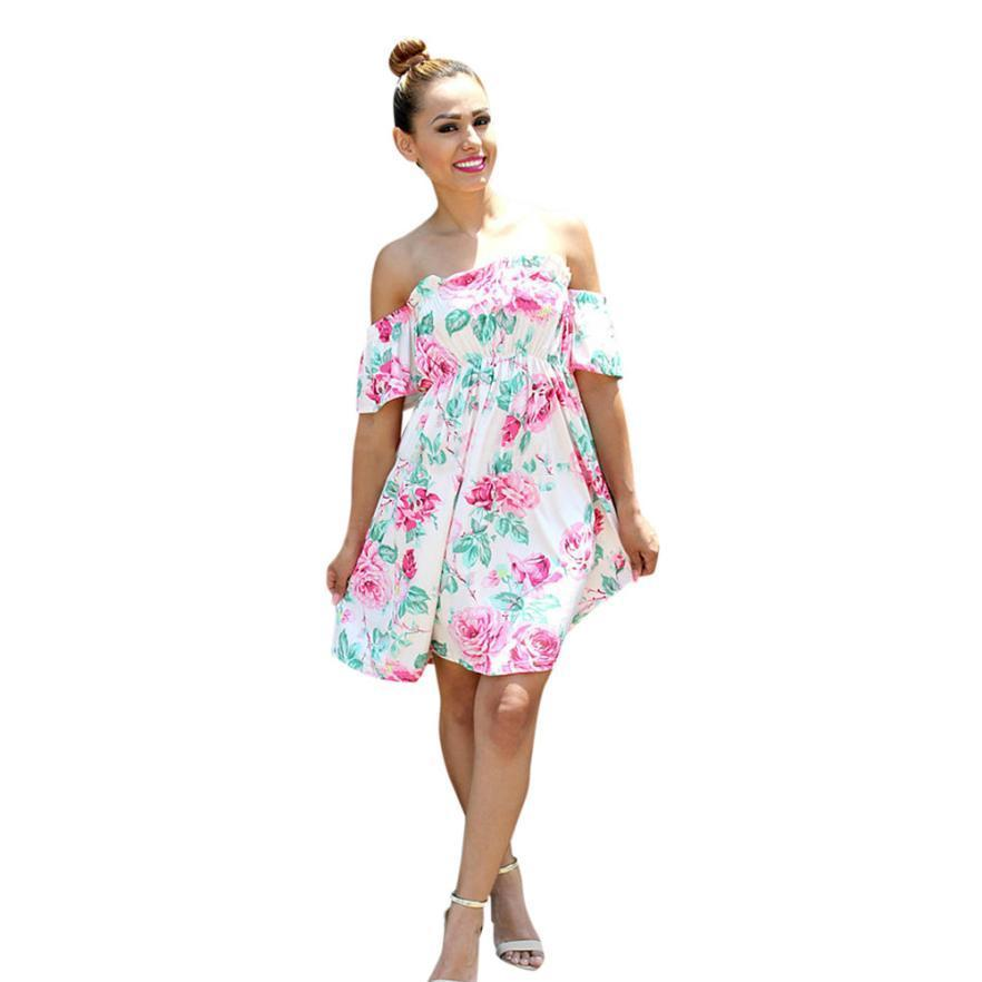 7ae1f540da4 Good Quality Mom Lady Women Floral Print Sundress Slim Dress Family Clothes  Girls Long Sleeve Lace Floral Dress Family Clothes Inexpensive Cocktail  Dresses ...