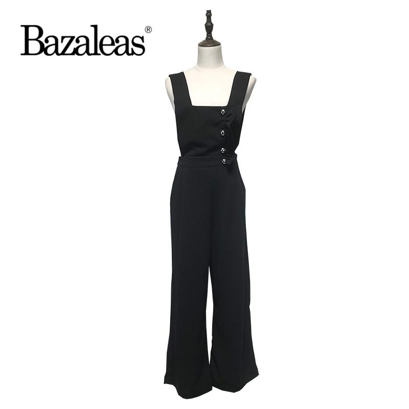 b02f3210d34 2019 Bazaleas 2018 Ruffles Buttons Decorate Rompers Women Jumpsuit ...