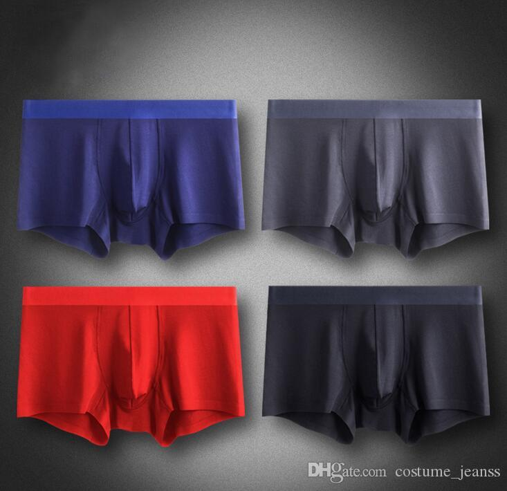 Sous-vêtements masculins sous-vêtements masculins sous-vêtements fonctionnels nano-argentés sans marque Boxer collés