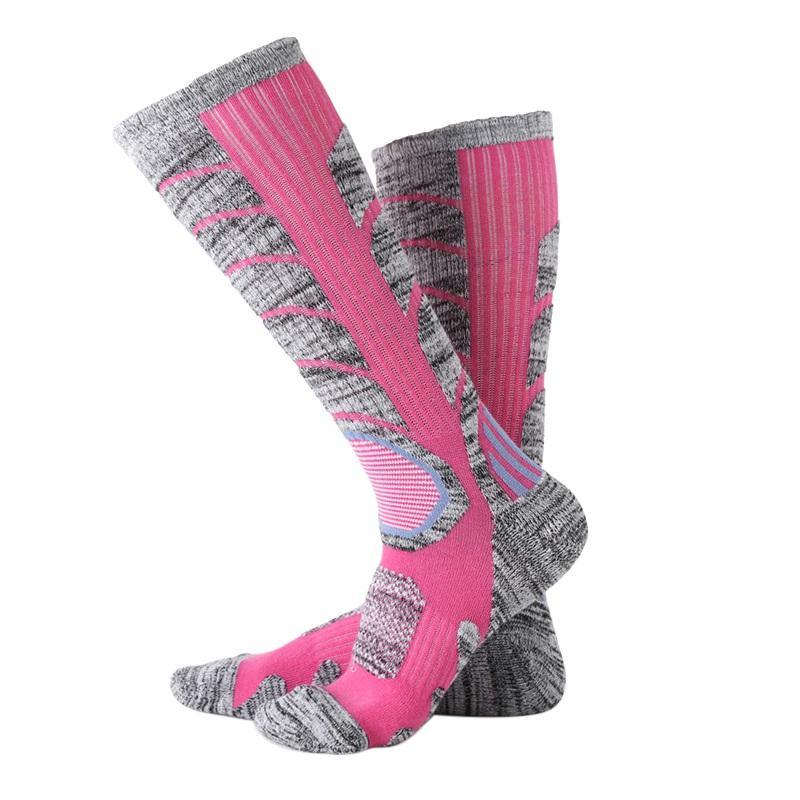e11c2092e44 2019 2018 New Men   Women Long Running Cycling Fishing Socks Compression Socks  Outdoor Sports Ski Running Soft Knee High From Xuelianguo