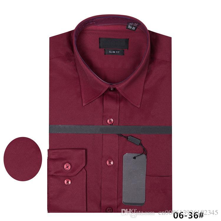 2018 immagine reale 100% cotone Camicie maschili Camicia uomo manica lunga b0ss Marchio Abbigliamento Camisa Masculina sociale Casual Chemise