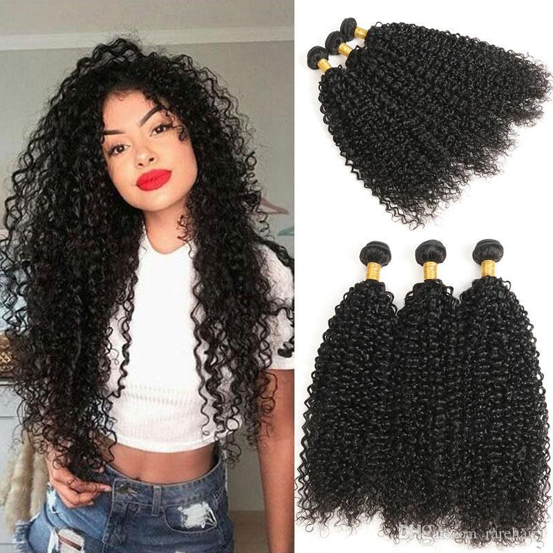 a8df87d7b9d3e3 Jerry Curl Human Hair Bundle Natural Black Color 100% Unprocessed Remy  Curly Brazilian Hair Extensions 8 30 Human Hair Extension Wefts 100 Human  Hair Weft ...