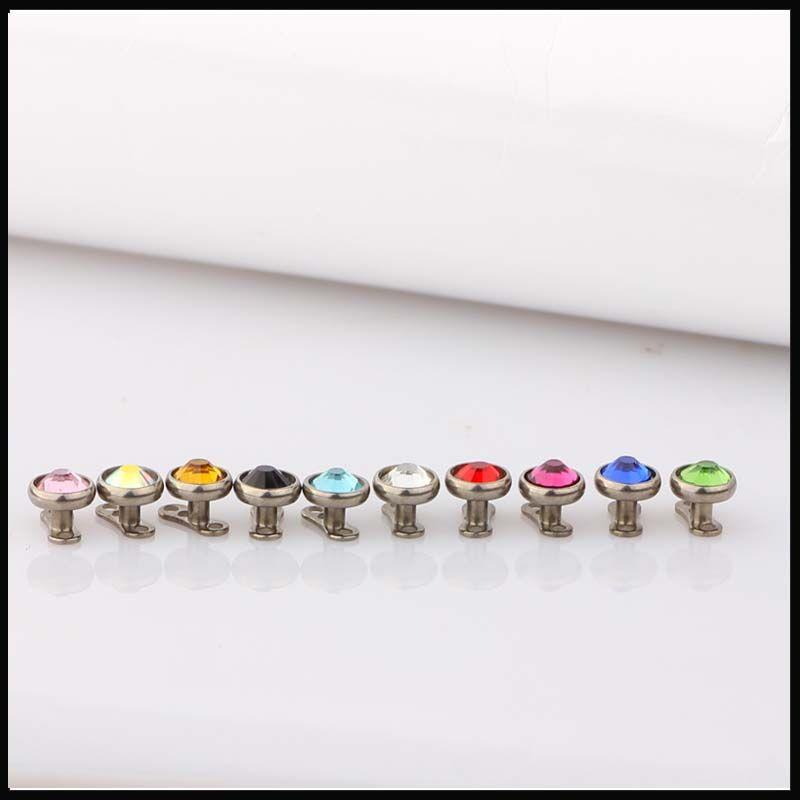 G23 titanio dermal anchor corpo gioielli gemma top design piercing cuted dermal piercing
