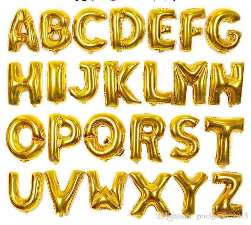16 Pouce Anglais Alphabet Ballon Ensemble Partie Joyeux Anniversaire De Mariage Anniversaire Fête Décorations Enfants Lettre Danniversaire Boule C051