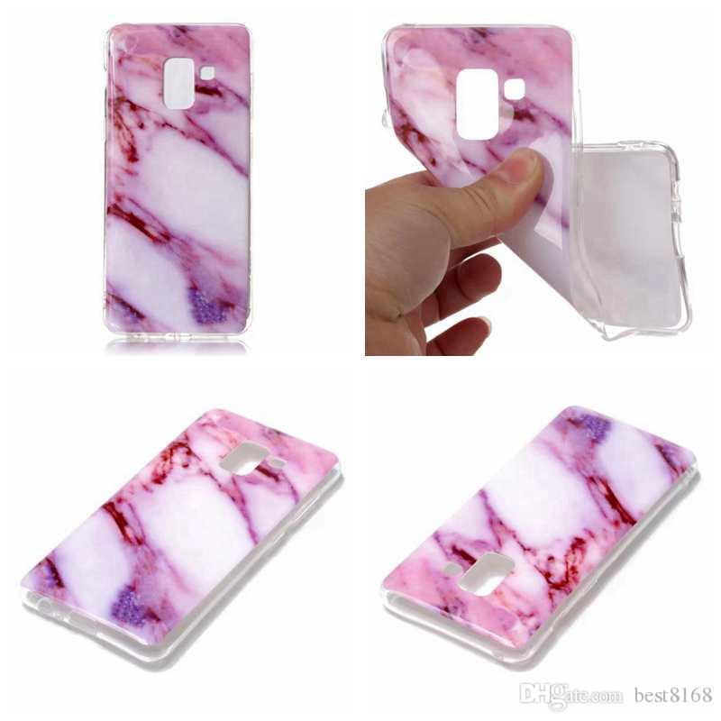 Soft TPU IMD Case For Moto G6 Plus Galaxy A5 2018 For Sony L1 Marble Rock Flower Silicone Gel Stone Hybrid Cover Cell Phone Skin Fashion