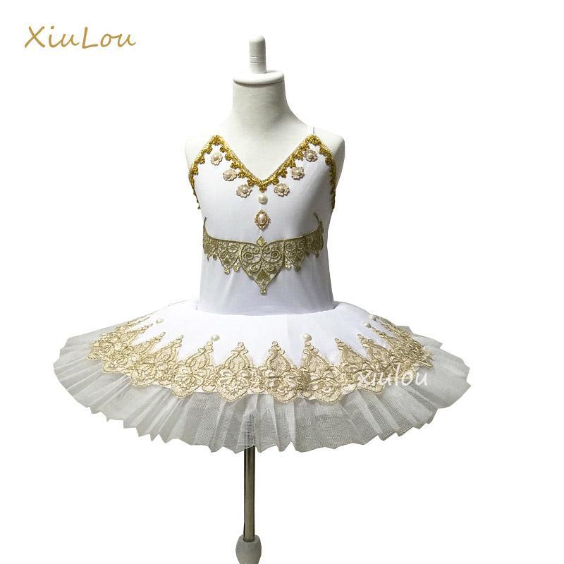Ballett Pfannkuchen Professionelle Para Tutu Kostüm Für Kinder Mädchen Vestidos Rot Rosa Blau Weiß Kleid Yb6gyvf7
