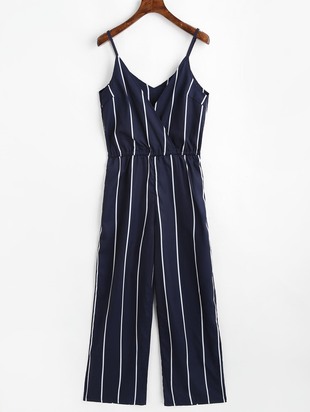 52ff298fe1ff 2019 ZAFUL Women Striped Jumpsuit Spaghetti Strap Sleeveless V Neck Romper  Casual Playsuit Summer Female Overalls Long Trousers Pants From Dayup